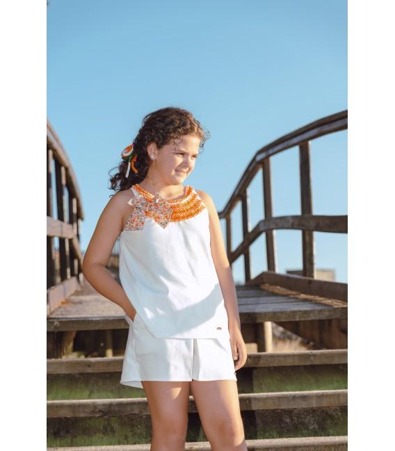 WHITE Skirt-Short