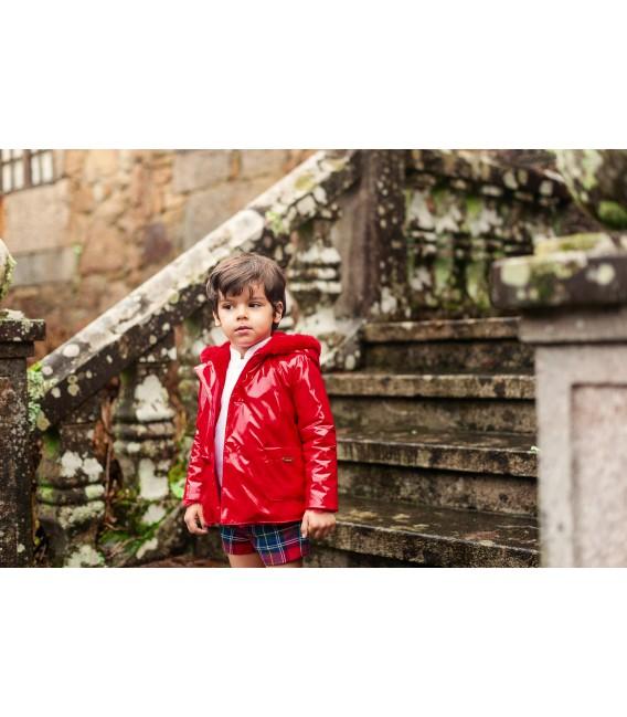RED Boy Raincoat
